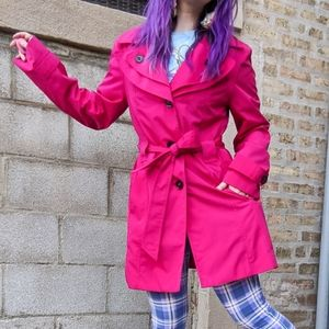 London Fog hot pink trench coat
